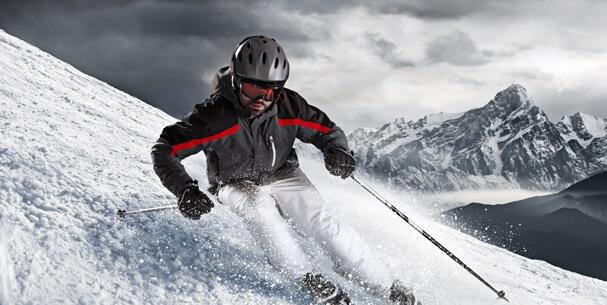 Key Visual Skifahrer Wobenzym Sportler-Kampagne