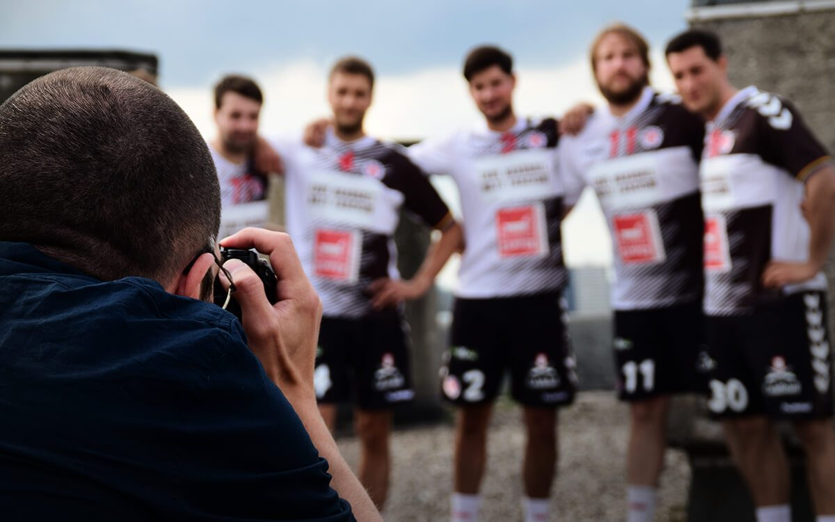 FC St. Pauli Handball - nitschmahler&friends Shooting auf dem Bunkerdach
