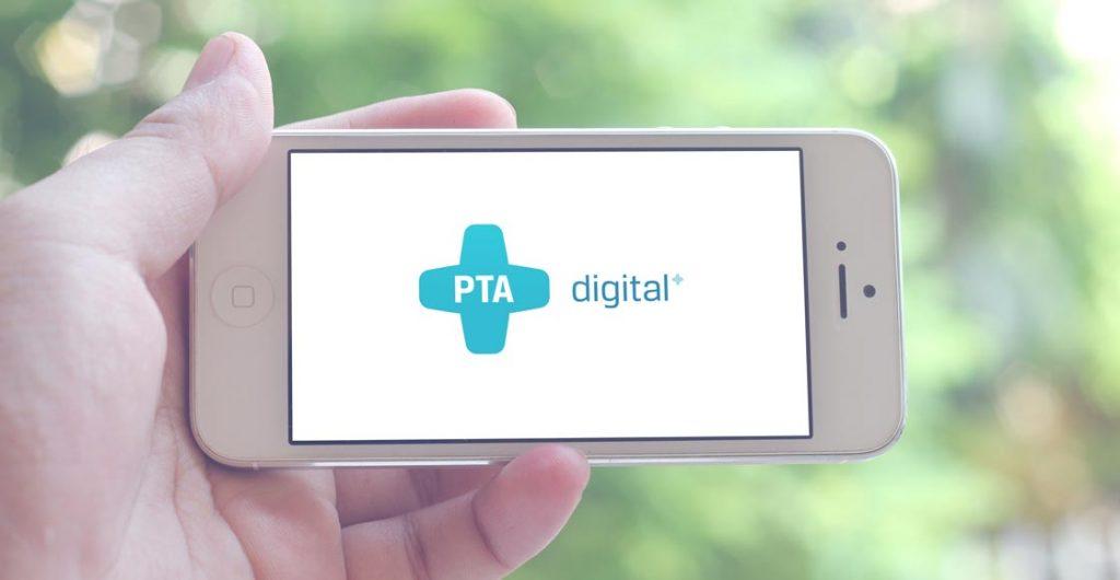 pta-digital Informationsportal Logo auf einem iPhone