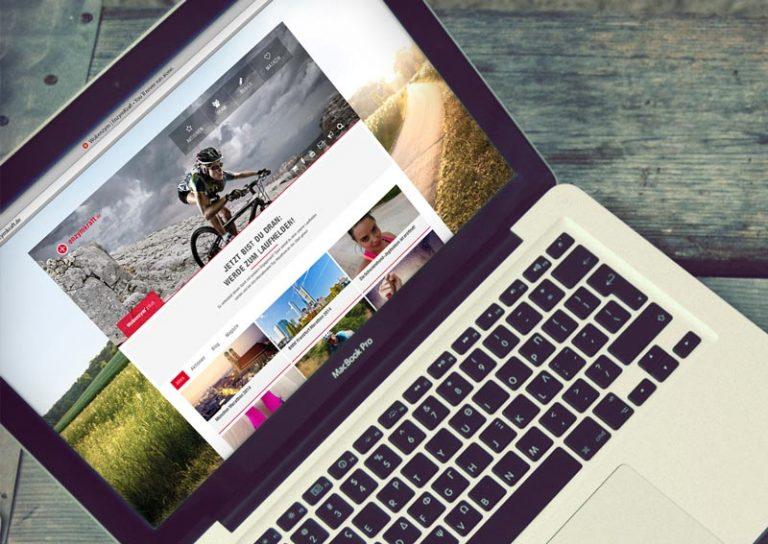 Enzymkraft Webseite auf Laptop