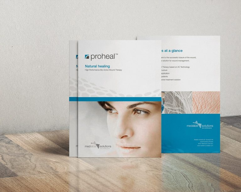 Medskin Solutions Proheal Fachkreise-Flyer von außen