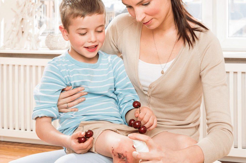 Octenisept - Apotheken-Aufsteller Key Visual Haut-Kampagne