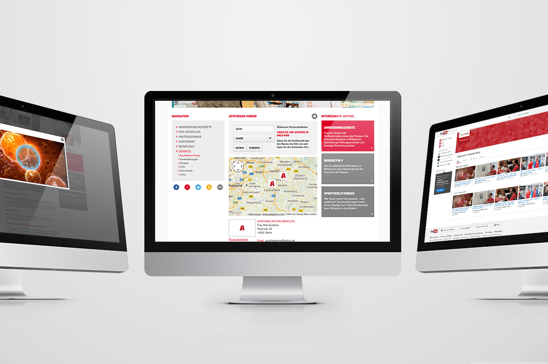 MUCOS Pharma - Produktwebseite-Relaunch