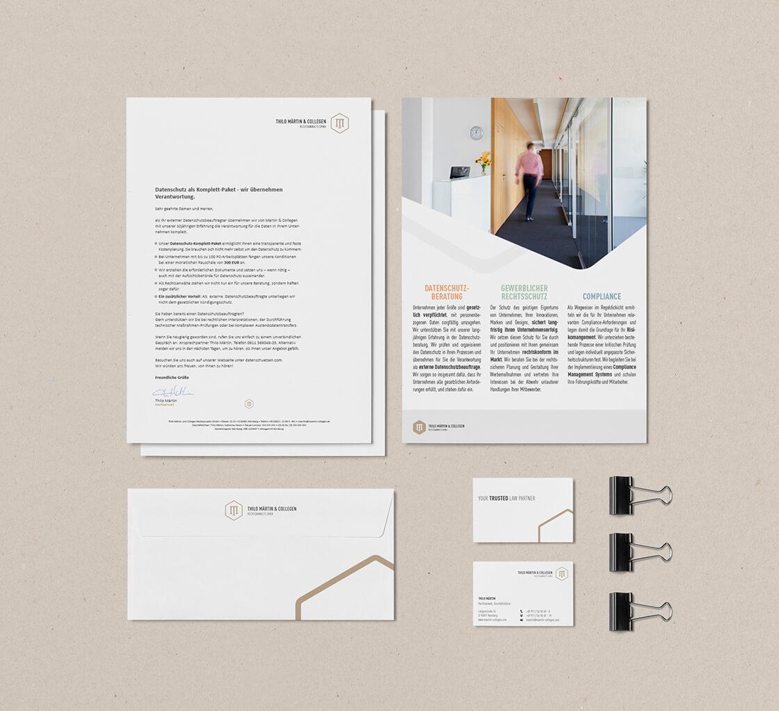 Kanzlei Märtin & Collegen - Briefpapier + Visitenkarten