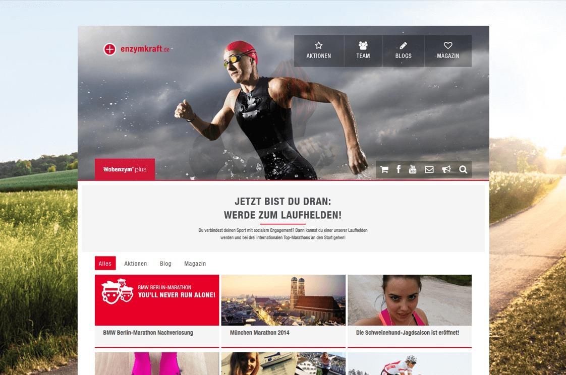 Mucos Pharma (Enzymkraft) - Webseite