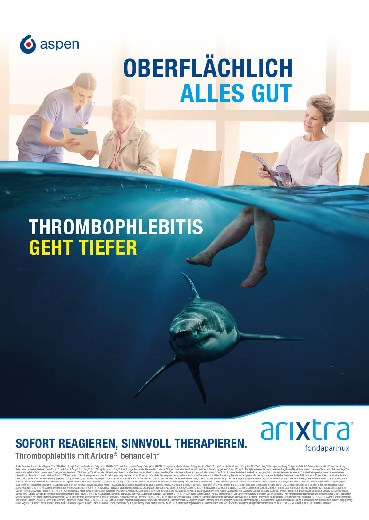 Anzeige für das Medikament Arixtra von Aspen
