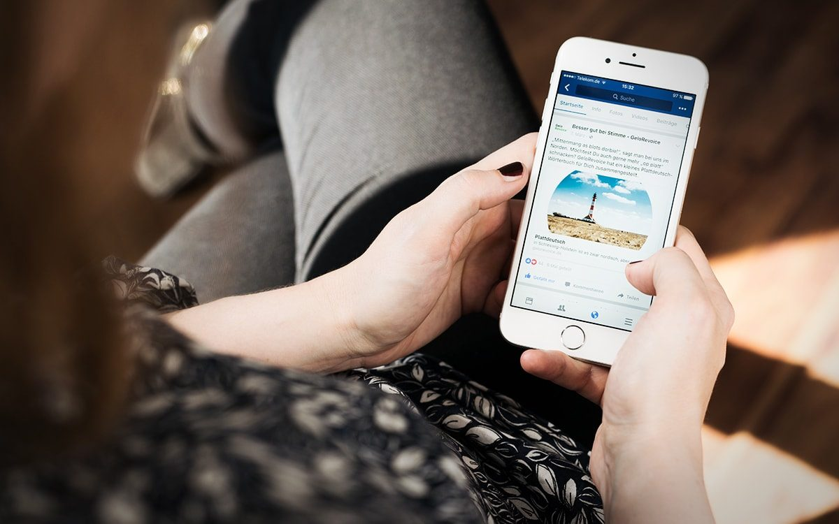GeloRevoice Mobile Webseite Dialekt-Kampagne