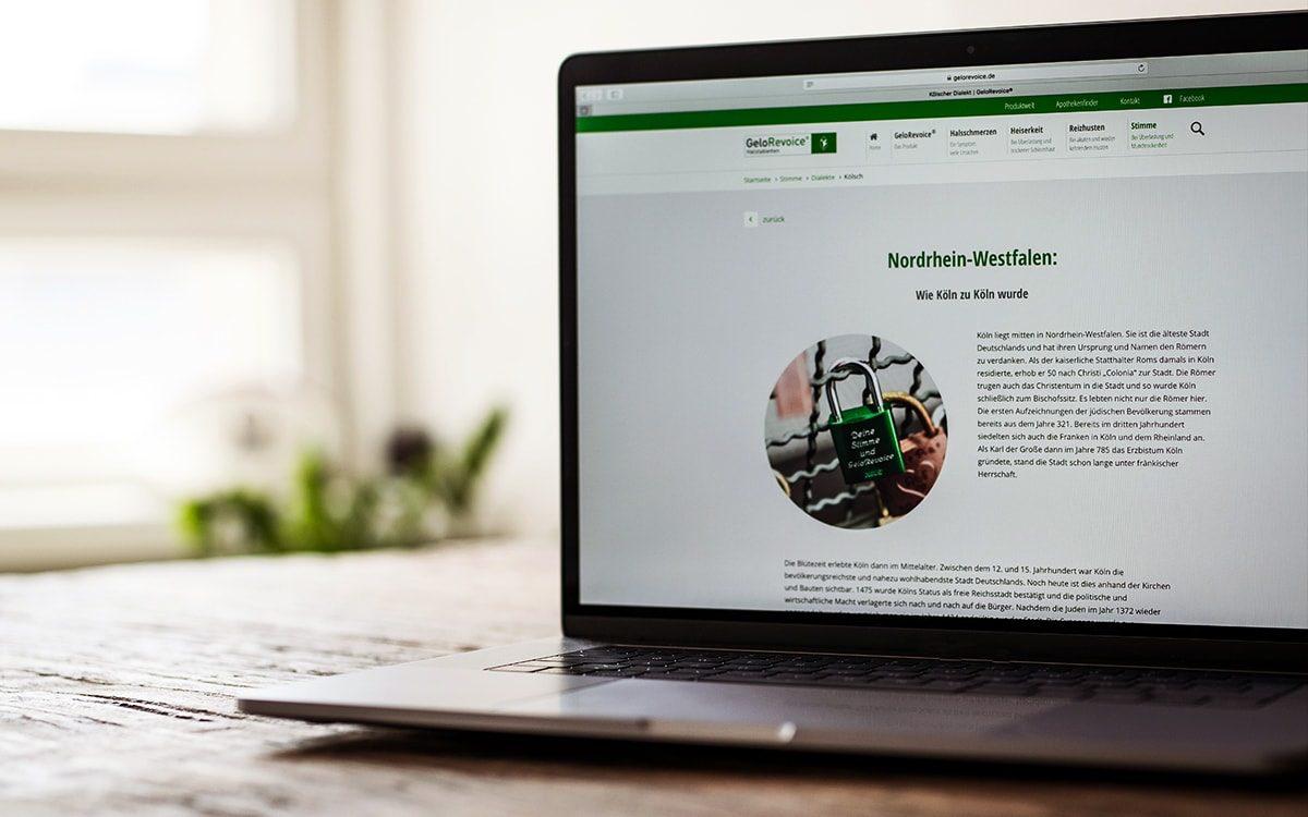 GeloRevoice Website Dialekte Nordrhein-Westfalen