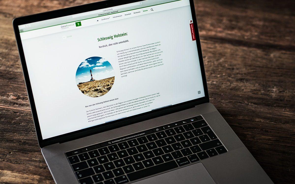 GeloRevoice Website Dialekte Schleswig-Holstein