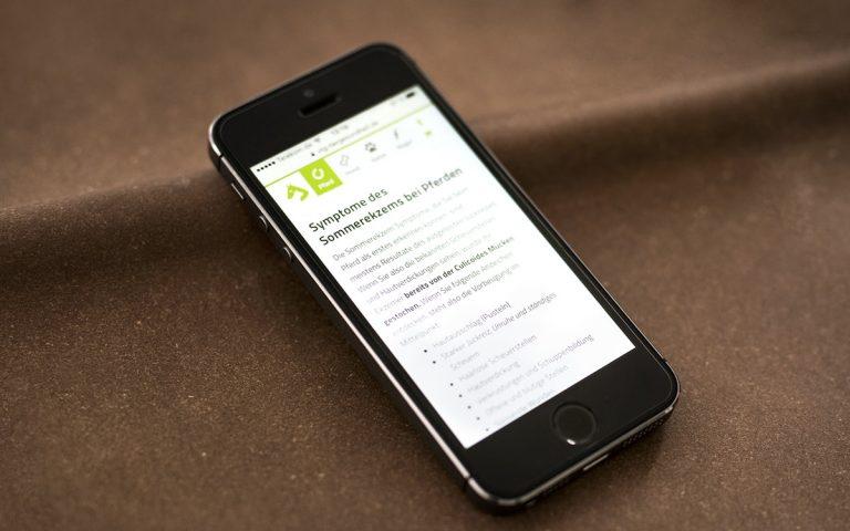 Blogbeitrag VTG-Tiergesundheit auf einem Mobilgerät