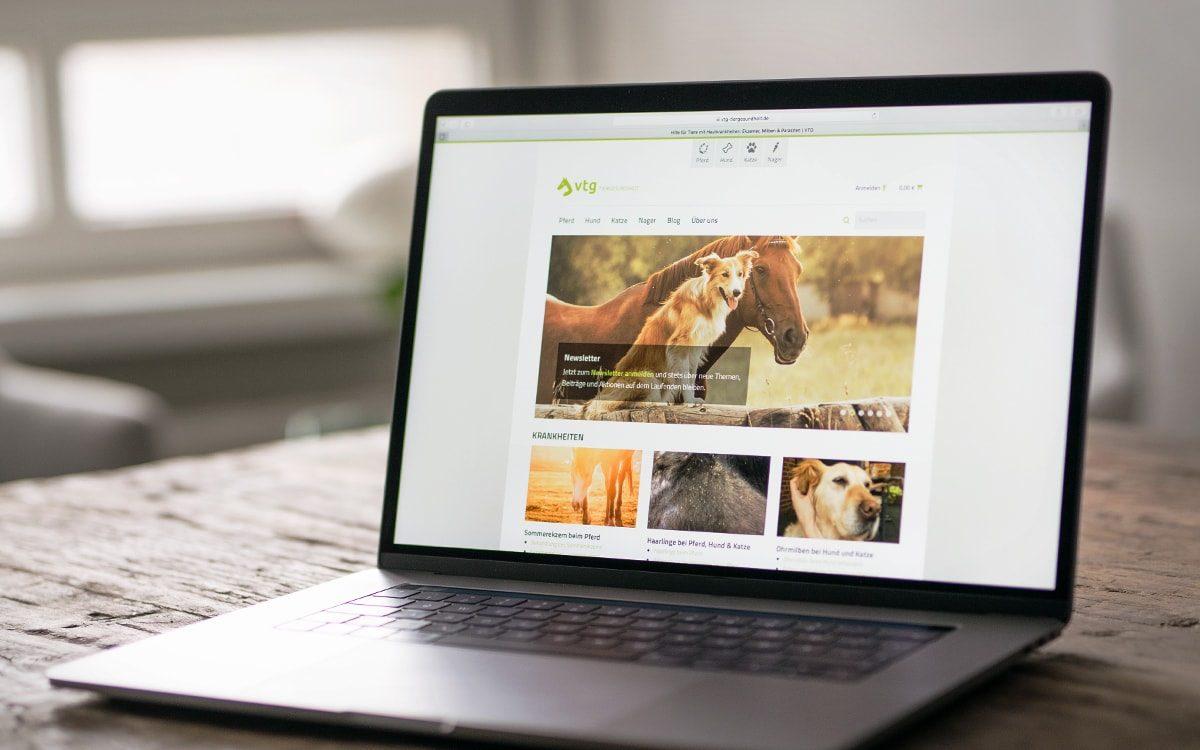 eCommerce VTG Tiergesundheit Webseite